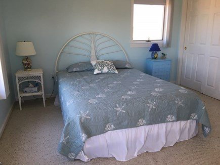 Truro Cape Cod vacation rental - Upstairs queen bedroom. Full bath with bath and shower in hall.