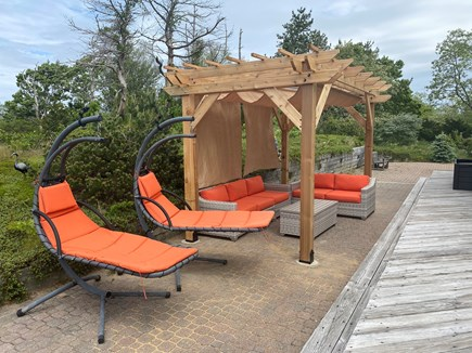 Truro Cape Cod vacation rental - Pergola with swing chairs.  Provides great shade in the afternoon