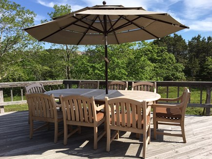 Truro Cape Cod vacation rental - Quite private back yard. Backyard deck off of living/dining room.