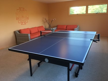 Truro Cape Cod vacation rental - Ping pong table in Play Room can be left open or stored