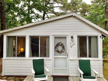 Wellfleet Cape Cod vacation rental - Front door in private fenced in area on last lot of the property.