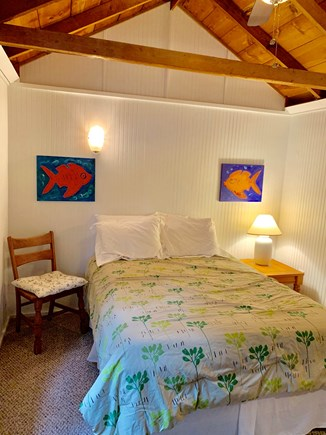 Wellfleet Cape Cod vacation rental - Bedroom with closet, dresser and ceiling fan.