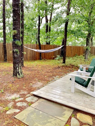 Wellfleet Cape Cod vacation rental - Private front deck.