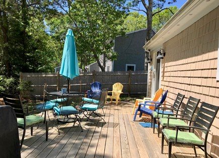 South Yarmouth Cape Cod vacation rental - Great back deck