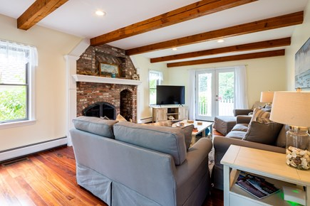 Orleans Cape Cod vacation rental - Family room with large flat screen smart TV with cable