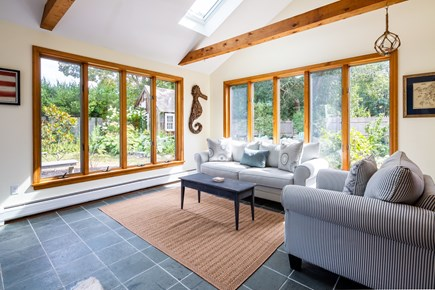 Orleans Cape Cod vacation rental - Bright and airy sun room with views of the backyard