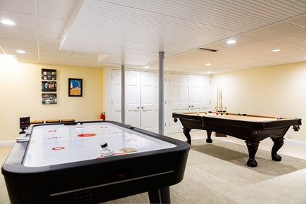 Provincetown Cape Cod vacation rental - Game room showing pool table