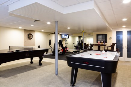 Provincetown Cape Cod vacation rental - Game room showing ping pong table