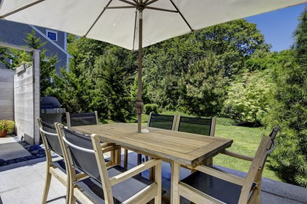 Provincetown Cape Cod vacation rental - Deck, yard view and dining table plus 6 chairs