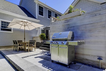 Provincetown Cape Cod vacation rental - Dining area with barbecue