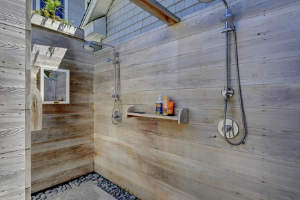Provincetown Cape Cod vacation rental - Outdoor shower with 2 shower heads