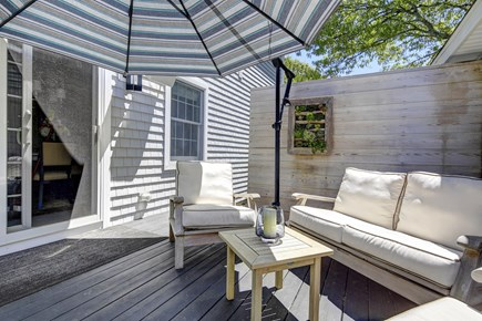Provincetown Cape Cod vacation rental - Deck with seating for 6 and outdoor speakers
