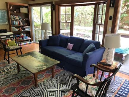 Wellfleet Cape Cod vacation rental - Living room with large screen TV