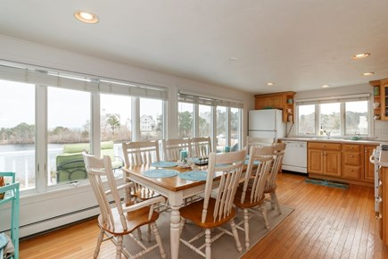 Mashpee, Popponesset Cape Cod vacation rental - Kitchen with water views and A/C unit