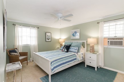 Mashpee, Popponesset Cape Cod vacation rental - Queen bedroom with two closets and A/C unit