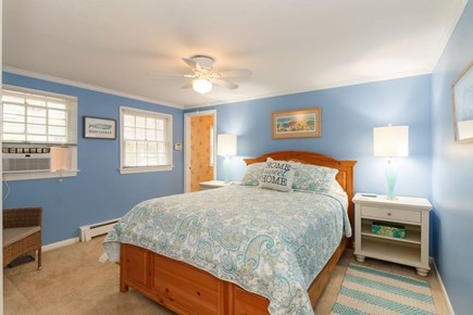 Mashpee, Popponesset Cape Cod vacation rental - Master queen bedroom with A/C unit and en-suite shower/tub