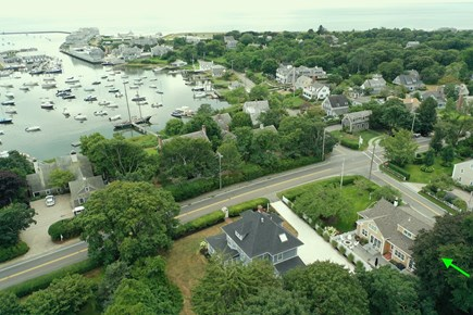 Harwich Port, Wychmere Harbor  Cape Cod vacation rental - Aerial photo of house & harbor