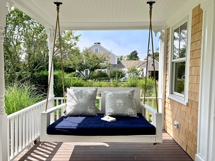 Harwich Port, Wychmere Harbor  Cape Cod vacation rental - Porch swing