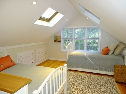Eastham Cape Cod vacation rental - Upstairs loft bedroom with 2 Twin beds and 1 trundle bed