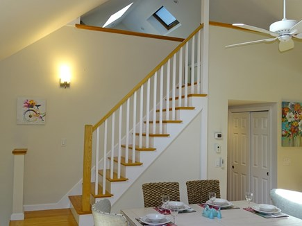 Eastham Cape Cod vacation rental - Entrance to lofted open floor plan with skylights & ceiling fans