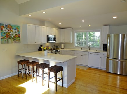 Eastham Cape Cod vacation rental - Spacious kitchen with new appliances, breakfast bar
