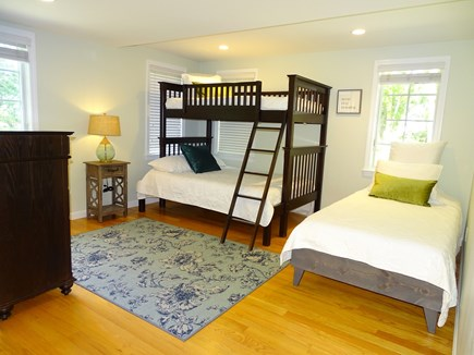 Eastham Cape Cod vacation rental - Second bedroom with a Twin over Full bunk bed and a Twin XL bed
