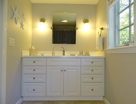 Eastham Cape Cod vacation rental - Master bathroom with shower and tub