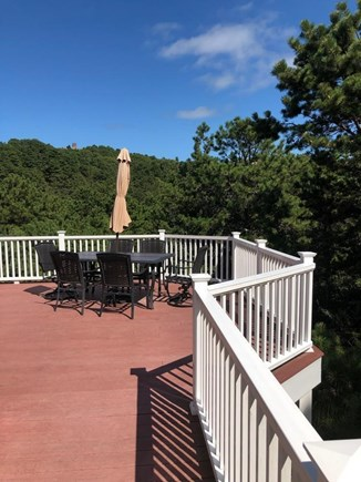 Truro Cape Cod vacation rental - Side portion of the deck