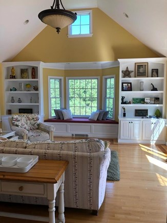 Truro Cape Cod vacation rental - Family Room  - great window seat overlooks the yard