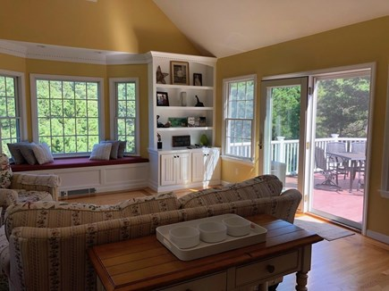 Truro Cape Cod vacation rental - Family Room opens onto deck