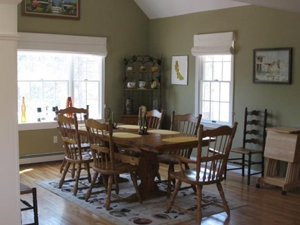 Truro Cape Cod vacation rental - Dining table comfortably seats all guests