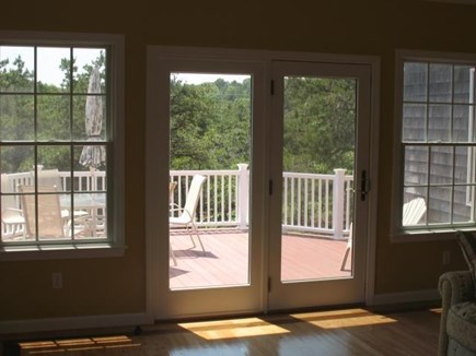 Truro Cape Cod vacation rental - Step out to the Deck from the Family Room