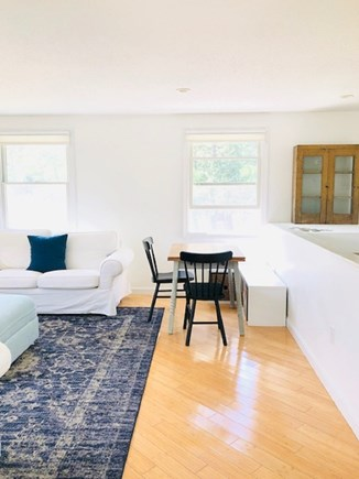 Truro Cape Cod vacation rental - Guest cottage dining nook with some kids toys/games/puzzles