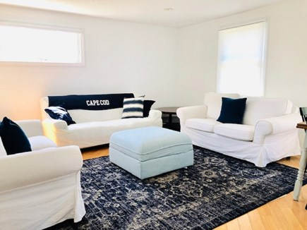 Truro Cape Cod vacation rental - Guest cottage living room. Futon (full bed). 2 love seats. Dining
