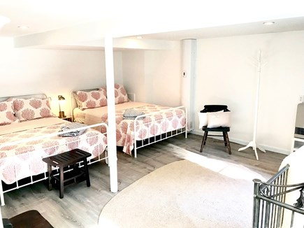 Truro Cape Cod vacation rental - Guest cottage - 1st floor. Large bedroom with 2 queen beds, crib.