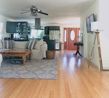 Truro Cape Cod vacation rental - Open concept living space with sectional couch (pull-out sofa)