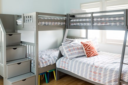 Truro Cape Cod vacation rental - Bunk Room - 2 sets of bunk beds (1 T over Full, 1 T over T)