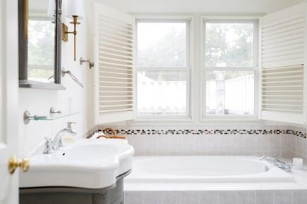 Truro Cape Cod vacation rental - Master bath - indoor jetted jacuzzi tub, indoor & outdoor shower