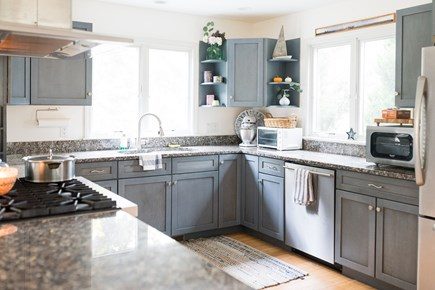 Truro Cape Cod vacation rental - Eat-in kitchen with viking stove and everything you need