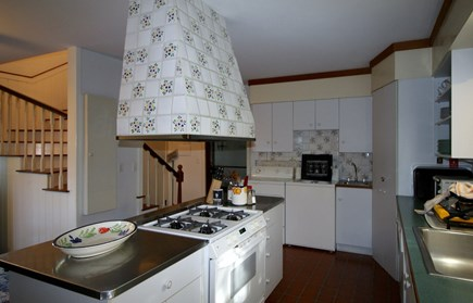 Truro Cape Cod vacation rental - Kitchen with laundry to the side