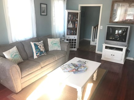 Hyannis Cape Cod vacation rental - Living Room: Pullout sofa (not pictured: Newer TV with Streaming)