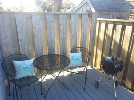 Hyannis Cape Cod vacation rental - Private Back Deck including charcoal grill!