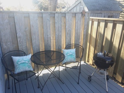 Hyannis Cape Cod vacation rental - Private back deck with charcoal grill
