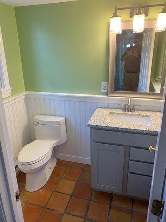 Hyannis Cape Cod vacation rental - Downstairs half bath (freshly decorated since picture!)