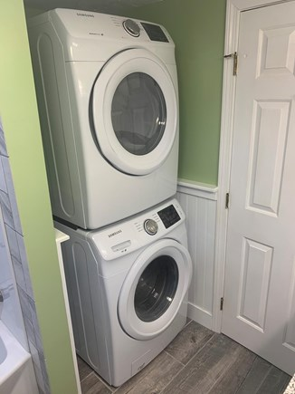Hyannis Cape Cod vacation rental - Brand New full size Washer and Dryer in Upstairs Bathroom!