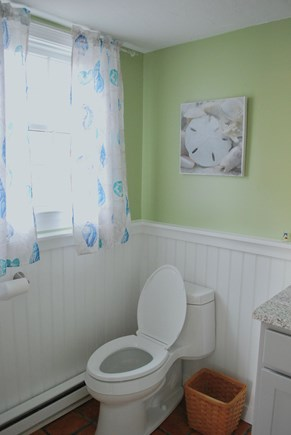 Hyannis Cape Cod vacation rental - First floor 1/2 Bath - best place to change after the beach!