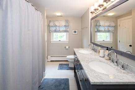 Chatham Cape Cod vacation rental - 2nd Floor bathroom with full tub and double sink