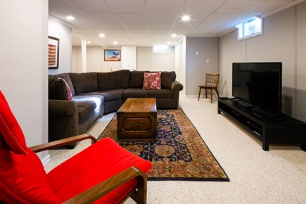 Chatham Cape Cod vacation rental - Finished basement with TV and sectional couch