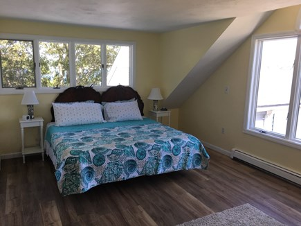 Bourne, Buzzards Bay Cape Cod vacation rental - Master bedroom #1, brand new king bed with queen sofa bed.