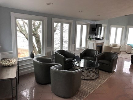 Bourne, Buzzards Bay Cape Cod vacation rental - Sitting area off kitchen.